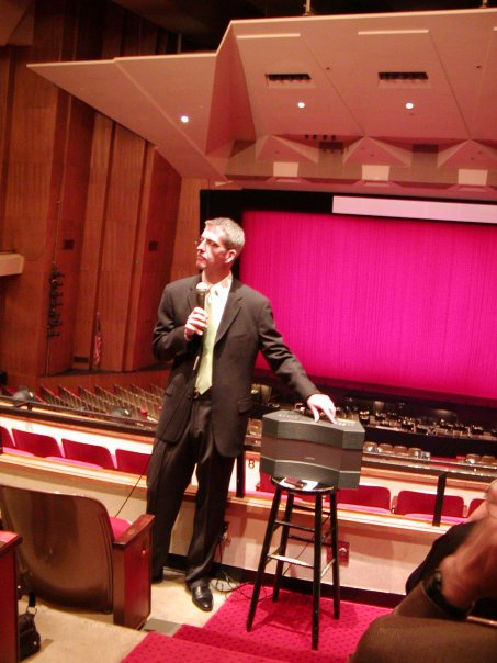 Rigoletto Talk, May 2009 - You wouldn't know it, but there were probably 300 people there that day